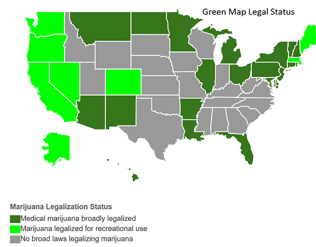 US Marijuana Map